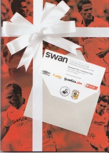 Cover picture of Swans v Coventry match programme