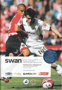 picture of the Swansea City v Blackpool matchday programme cover