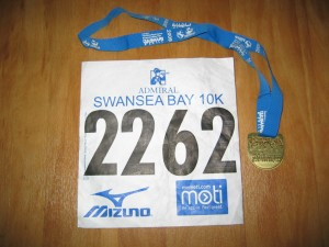 My race number and medal