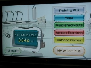 Wii Fit Plus Training Plan