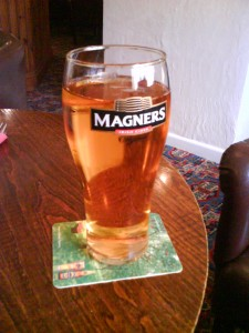 A picture of a pint of Magners cider