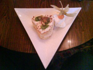 Picture of my dessert - pineapple and lemon gateau