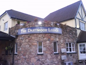 Outside signage for The Dartmoor Lodge