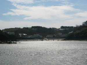 This is Little Haven as viewed from the beach