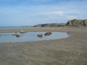 One of many rock pools