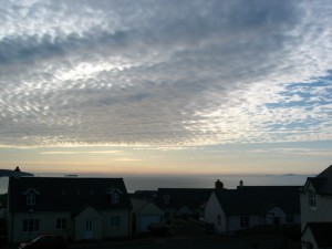 The evening sky over Broad Haven