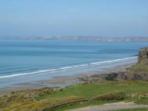 The view overlooking Druidston Haven