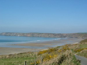 Newgale Beach from a distance
