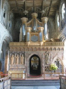 The organ at St. David's Cathedral