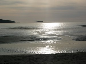 Another evening view of Broad Haven beach