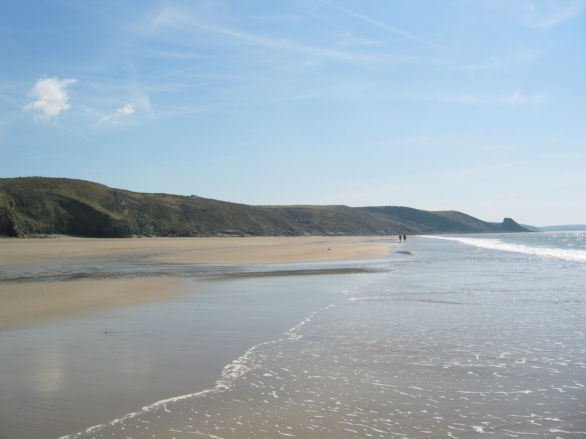 Taking a stroll on Newgale beach