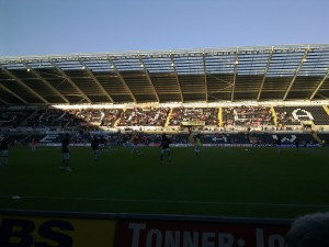 The Swans warming up