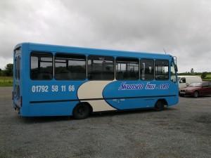 Our hardtail blue mini-coach