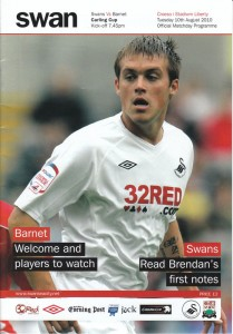 Swansea City match day programme cover