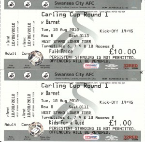 Swans match tickets