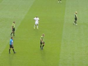 Scunthorpe wearing Celtic's away kit?