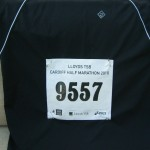 Race number pinned on my kit!