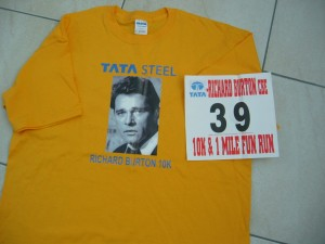 My Richard Burton t-shirt and race number