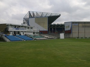 Burnley cricket club pavilion and Turf Moor