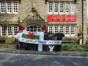 TwitterJacks on Tour - flag borrowed from Carmarthen Jacks!