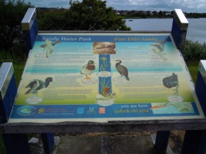 Sandy Water Park sign
