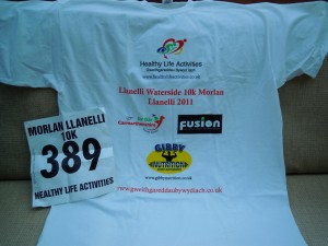 My t-shirt momento for finishing the race