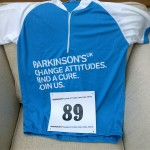 My Pedal for Parkinson's Jersey and Race Number