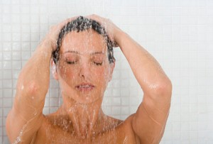 Picture of a women showering