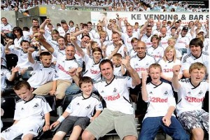 Swansea City Fans - picture courtesy of Northcliffe Media Limited