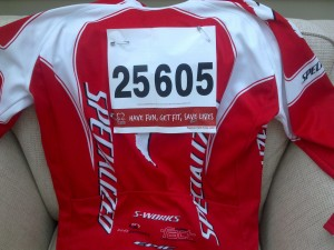 My jersey and ride number