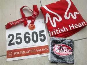 BHF Charity Bike Ride Goodies