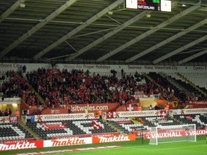 Switzerland fans in Swansea