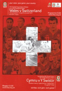 Wales v Switzerland Match Programme Cover