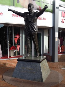 Statue of Bill Shankly outside Anfield