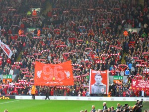 The Kop singing You'll Never Walk Alone