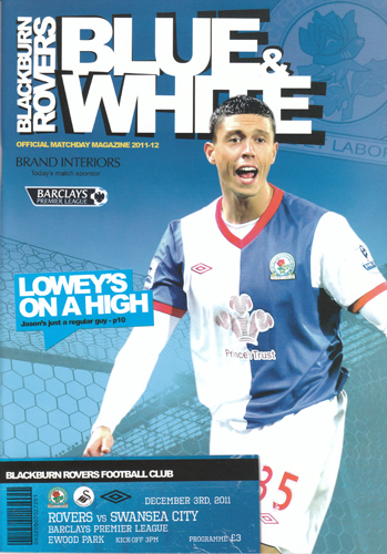 Blackburn Rovers v Swansea City Programme Cover