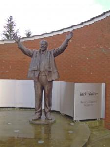 The Jack Walker Statue at Blackburn Rovers