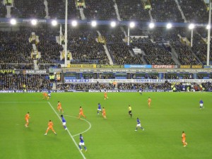 Everton on the attack