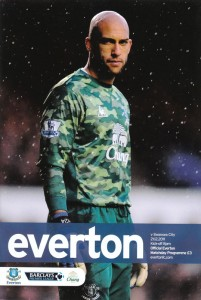 Everton v Swansea programme cover