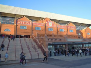 Outside the Holte End at Villa Park
