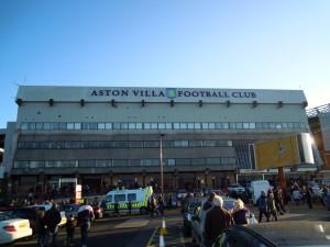 Behind the North Stand at Villa Park