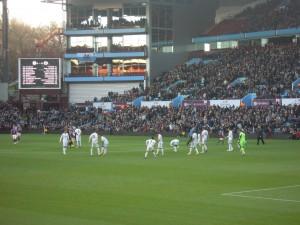 About to kick-off at Villa Park