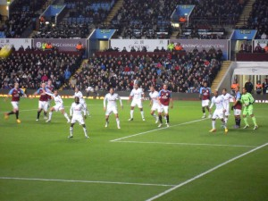 Spot the ball at Villa Park