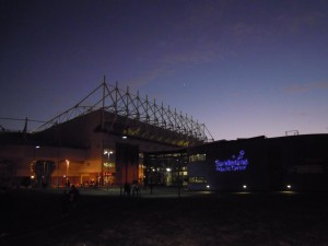 The Stadium of Light at night