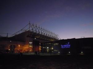 The Stadium of Light at night