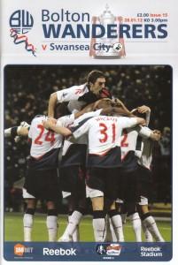 Bolton Wanderers v Swansea Programme Cover