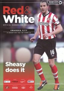 Sunderland v Swansea programme cover