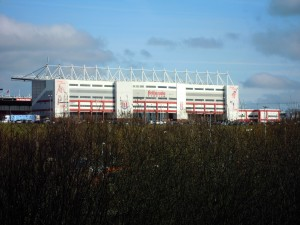 The Britannia Stadium from the A500