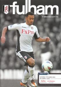 Fulham v Swansea Programme Cover