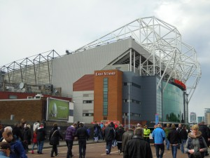 Outside the south stand at Old Trafford